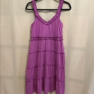 Cute mauve Esprit ruffled tiered tank dress